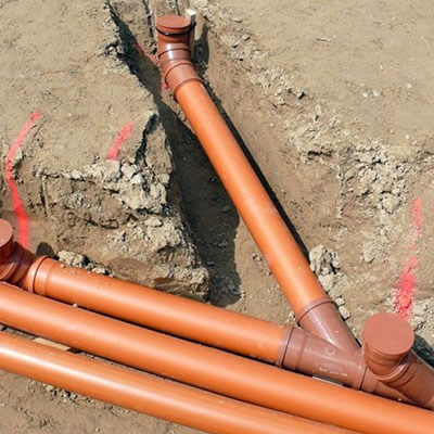 Монтаж точки канализации