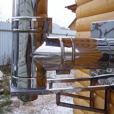 Установка дымоходов для газовых и твердотопливных котлов