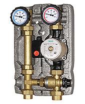 """Насосная группа c термостат. клапаном 1"""" (50-150 м.кв.)"""
