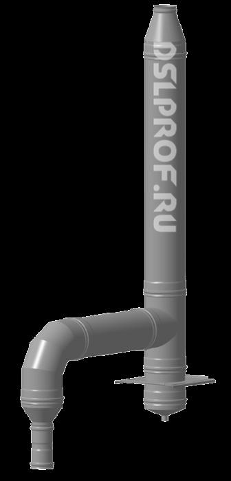 Дымоход Ф100/200 L4м 430/Оц. Ferrum