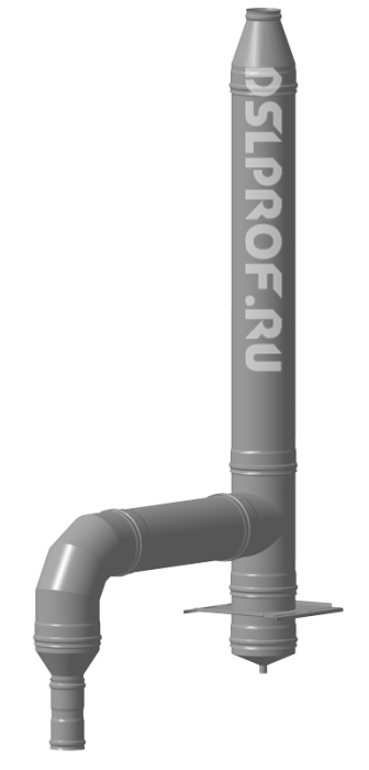 Дымоход Ф80/160 L4м 430/Оц. Ferrum