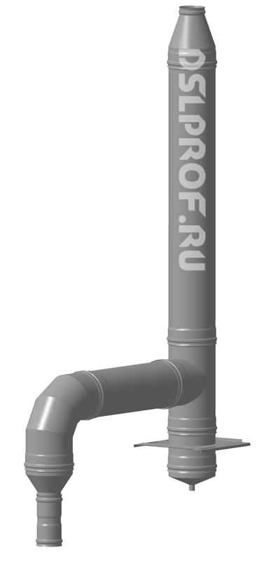 Дымоход Ф100/200 L4м 430/Нерж. Ferrum