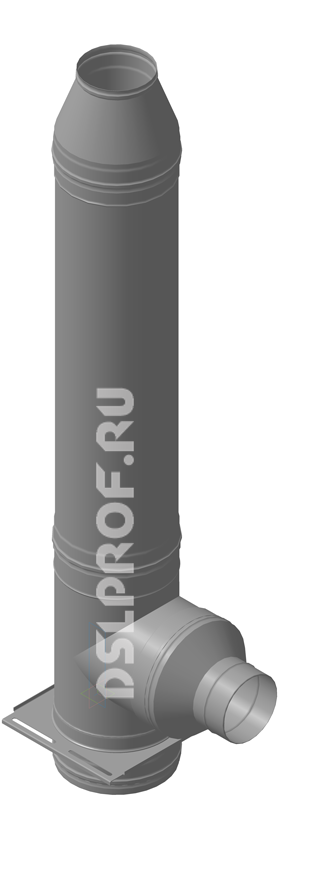 Дымоход Ф200/280 L4м 430/Оц. Ferrum