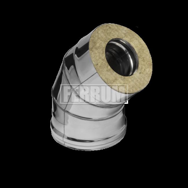 Сэндвич-отвод 135гр., (430/0,5мм + оц.) D200/280 Ferrum
