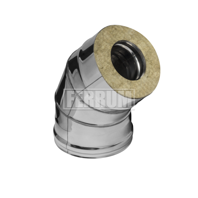 Сэндвич-отвод 135гр., (430/0,5мм + оц.) D120/200 Ferrum