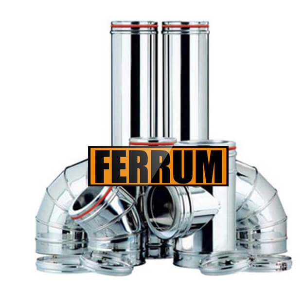 Комплект дымохода (430/0.5мм + оц.) D250/350, высота 4м Ferrum,