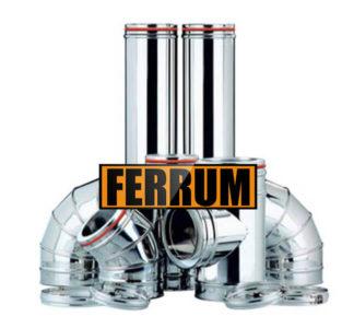 Комплект дымохода для бани (430/0.5мм + оц.) D120/200, высота 3м Ferrum