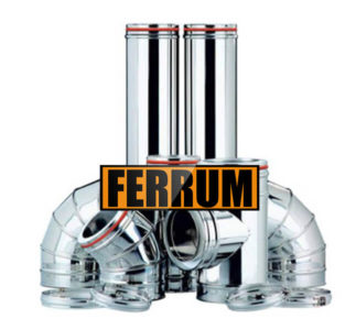 Комплект дымохода для бани (430/0.5мм + оц.) D130/200, высота 3м Ferrum