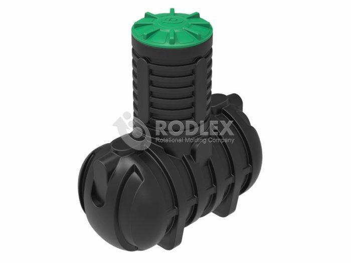 Емкость для канализации RODLEX-S2000 с горловиной 1000 мм и крышкой