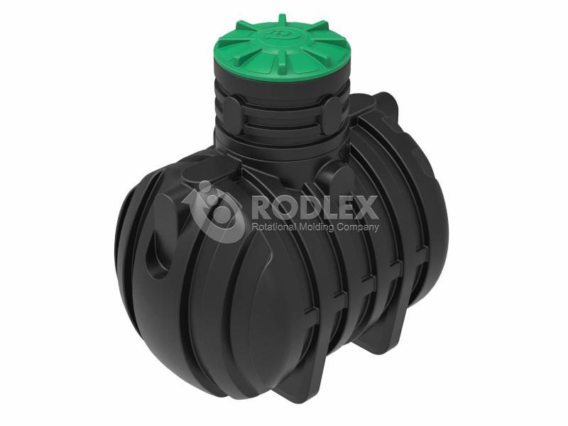 Емкость - септик пластиковый RODLEX-S3000 с горловиной 500 мм и крышкой