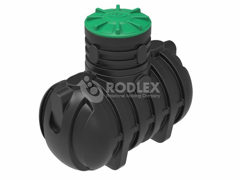Емкость для канализации RODLEX-S2000 с горловиной 500 мм и крышкой