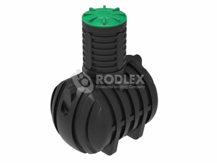 Емкость накопительная для канализации RODLEX-S3000 с горловиной 1000 мм и крышкой