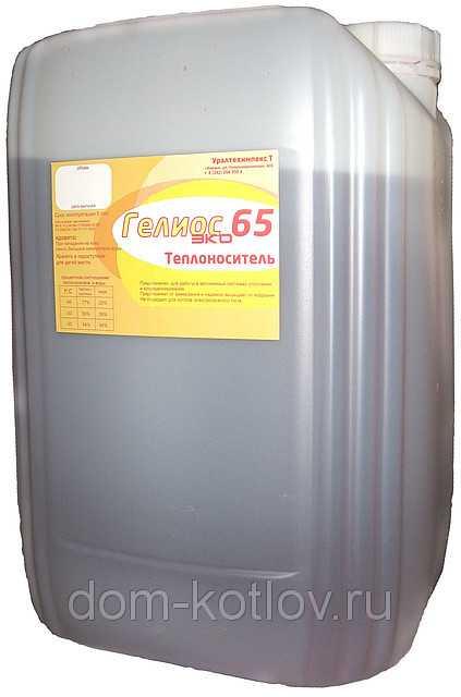 """Теплоноситель для отопления """"Гелиос Эко -65"""" (этиленгликоль, 20 кг)"""