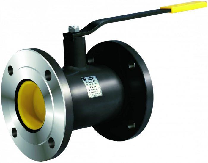 Кран шаровой нержавеющий фланцевый Ду15 Ру40 LD стандартный проход КШ.Ц.Ф.015.040.01