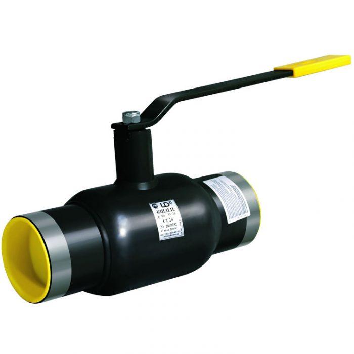 Кран шаровой нержавеющий под приварку Ду25 Ру40 LD стандартный проход КШ.Ц.П.020.040.01