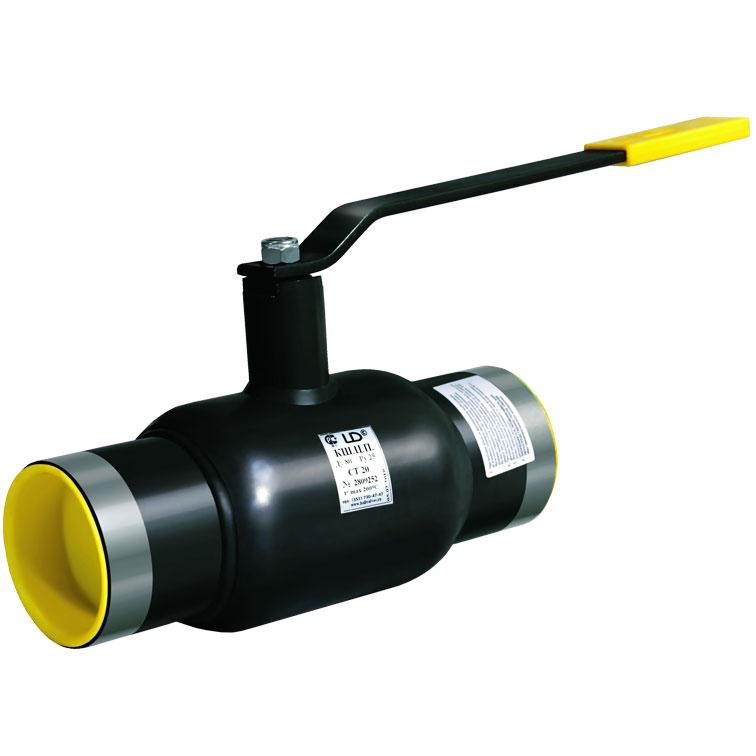 Кран шаровой стальной под приварку Ду15 Ру40 LD стандартный проход КШ.Ц.П.015.040.02