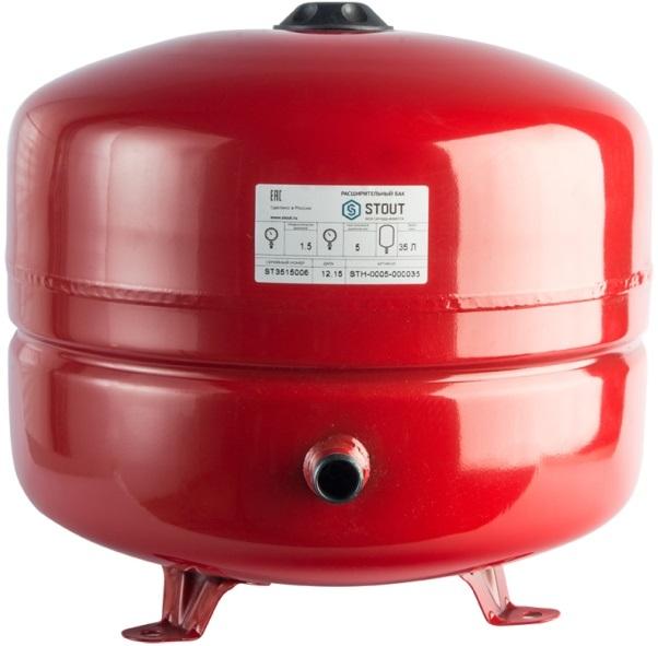 Расширительный бак для отопления STOUT 35 л.