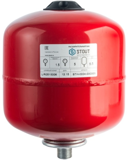 Расширительный бак для отопления STOUT 5 л.