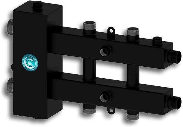 """Гидравлический разделитель модульного типа «СЕВЕР-М3» до 70 кВт 1 1/4"""" х 1"""" на 3 контура"""