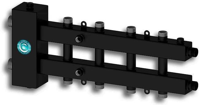 """Гидравлический разделитель модульного типа «СЕВЕР-М4» до 70 кВт 1 1/4"""" х 1"""" на 4 контура"""