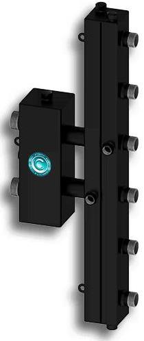 """Гидравлический разделитель вертикального типа «СЕВЕР-V3» до 70 кВт 1 1/4"""" х 1"""" на 3 контура"""