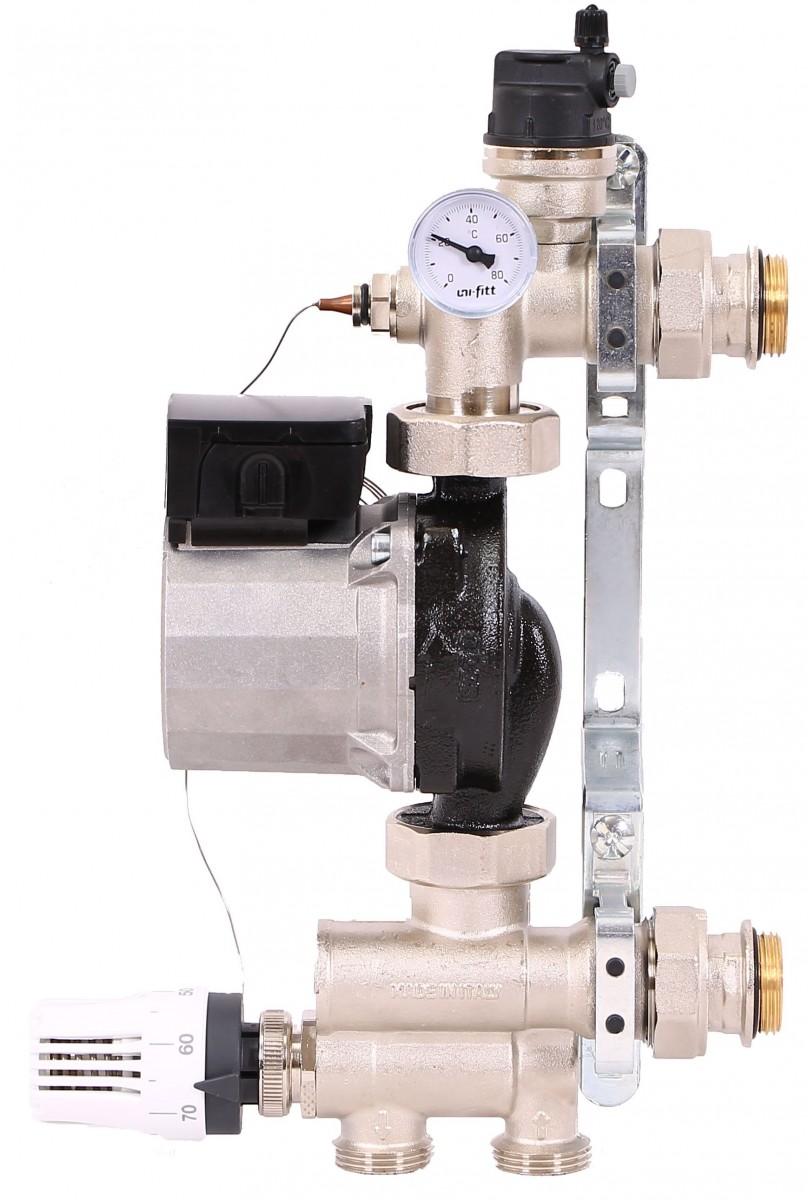 Насосно-смесительный узел с насосом для теплого пола Uni-Fitt
